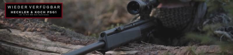 Wieder verfügbar - Heckler & Koch PSG1 GBB Airsoft Gewehr !