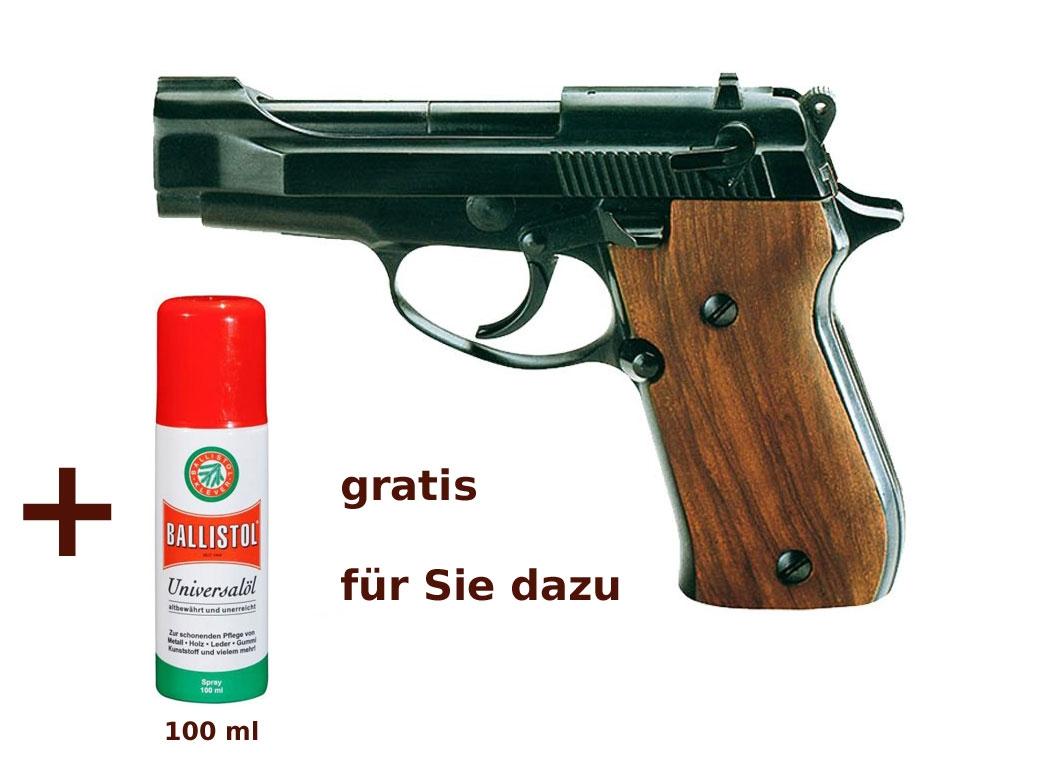 Schreckschuss pistole weihrauch hw 94 brüniert mit holzgriff