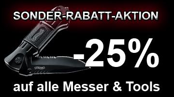 - 25% auf alle Messer & Multitools!