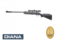 Diana twenty one FBB Luftgewehr 4,5 mm Diabolo schwarz mit Zielfernrohr 4x32, gezogener Lauf