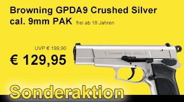 Sonderaktion Browning GPDA9 Crushed Silver - frei ab 18 Jahren!
