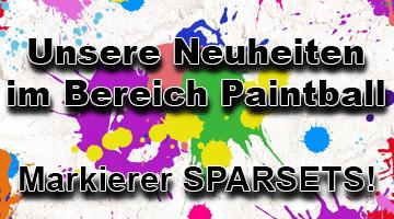 Neu im Sortiment - einzelne Paintball Markierer von Maxtact, Planet Eclipse und weitere !