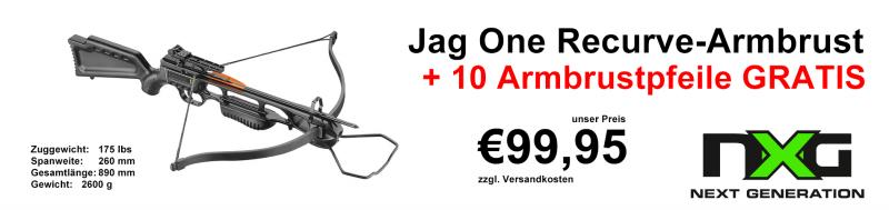 NXG Jag One 175lbs Armbrust Set inkl. 10 Pfeile Gratis!