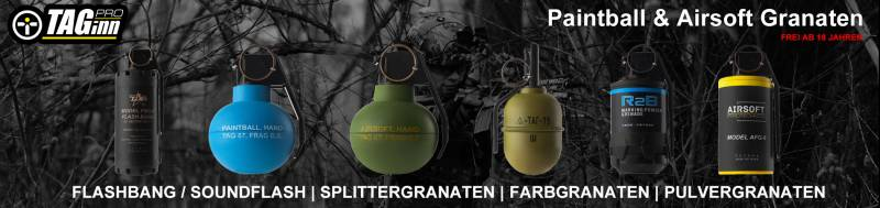 Neu im Sortiment! Taginn Airsoft & Paintball Granaten!