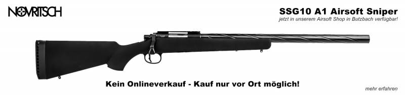 Novritsch SSG10 A1 - Jetzt in unserem Airsoft Shop in Butzbach verfügbar!