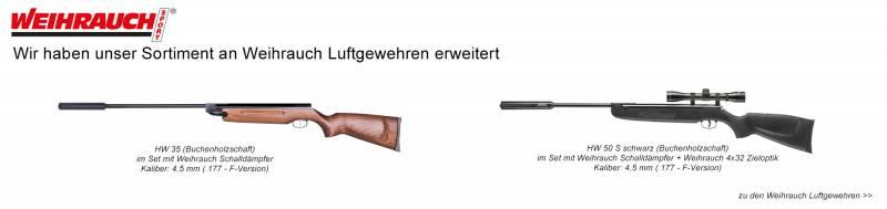 Neue Weihrauch Luftgewehrmodelle im Sortiment!