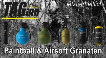 Neu im Sortiment - Paintball & Airsoft Granaten von Taginn!