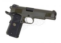 WE M1911 MEU Tactical Full Metal OD Airsoft Pistole