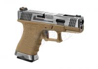 22281 - WE G-Force SV Silver Barrel Metal GBB Airsoft Pistole - rechte Seite