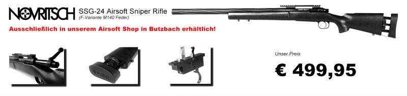 Jetzt in unserem Airsoftshop Butzbach verfügbar! Novritsch SSG-24 Airsoft Sniper Rifle