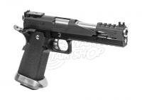22269 - WE Hi-Capa 6 T-Rex Customs Full Metal GBB Schwarz Airsoft Pistole - rechte Seite