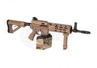 27305 - G&G CM16 LMG S-AEG Airsoft Gewehr Desert - Ansicht der rechten Seite