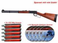 Walther Lever Action Version long CO2 Luftgewehr mit brüniertem Systemkasten