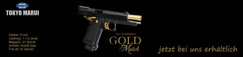 Jetzt bei uns erhältlich - Tokyo Marui Hi-Capa 5.1 Gold Match