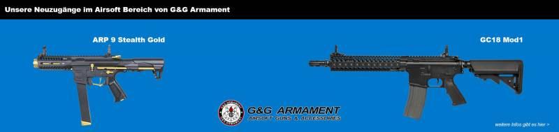 Unsere Neuzugänge von G&G Armament!