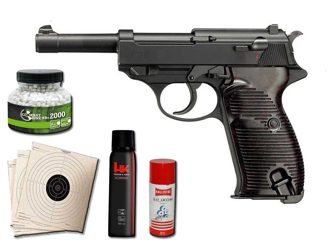Softair pistole walther p mit gbb sparset mit viel zubehör