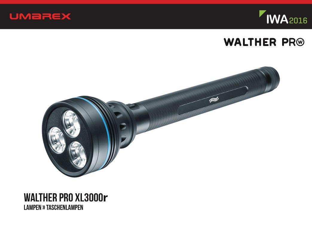 Walther pro xl3000r taschenlampe taschenlampen lampen outdoor