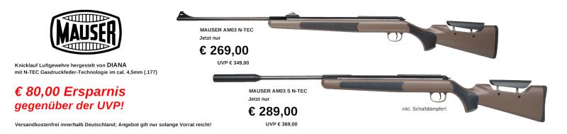 Mauser Luftgewehre knallhart reduziert!