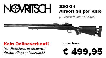 Jetzt in unserem Airsoft Shop in Butzbach verfügbar - Novritsch SSG-24 Airsoft Sniper Rifle