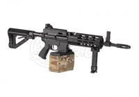 27304 - G&G CM16 LMG  S-AEG Airsoft Gewehr Black - Ansicht der rechten Seite