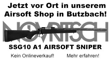 Novritsch SSG10 A1 Airsoft Sniper - Jetzt verfügbar in unserem Airsoft Shop!