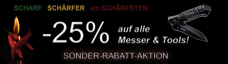 -25% auf alle Messer & Multitools