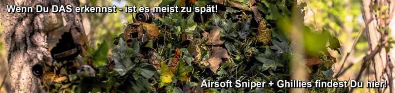 Airsoft Sniper + Ghillies findest Du in unserem Airsoft Shop!