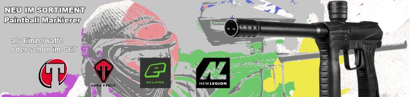 Neue Paintballmarkierer von Maxtact, Planet Eclipse, Tippmann & New Legion im Sortiment!